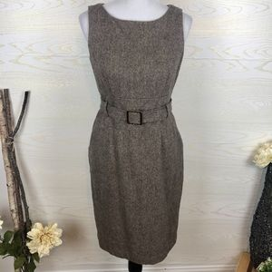Banana Republic Tweed Wool Blend Belted Dress